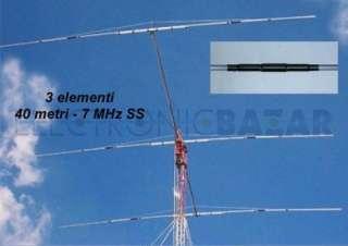 Yagi beam 3 el. 7 MHz 13 m boom PKW MHF3e40/sm