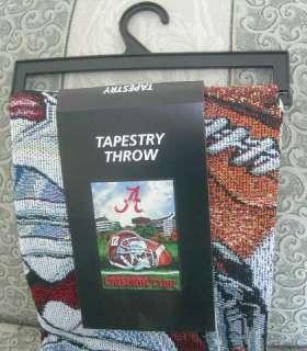 Crimson Tide Tapestry Throw Gift Blanket NCAA Football Tean Logo NIP