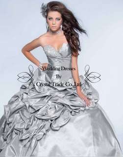 Formal beaded Quinceanera Dress Ball Gown Wedding Bridal Prom Dresses