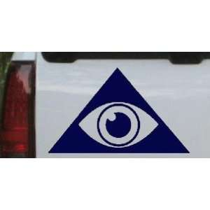 Navy 26in X 15.9in    Illuminati Eye Masonic Car Window Wall Laptop