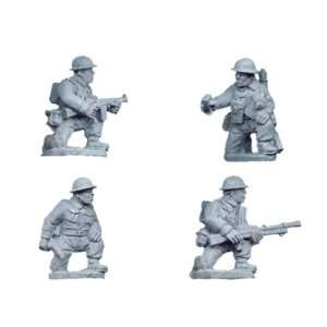 Miniatures   World War II British Command and Bren Teams Kneeling (4