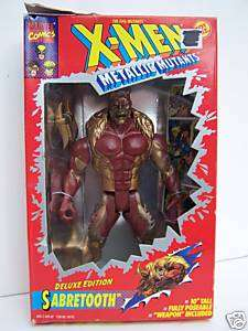 Sabretooth 10 X Men Metallic Mutants Toy Biz figure