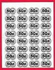 32 Old 50 Cent Gumball Vending Machine Price Stickers