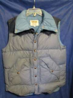 Teton Mountain VTG PUFFY DOWN SKI VEST Blue 70s/80s SZ L