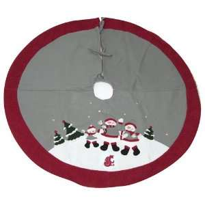 Washington State Cougars NCAA Snowman Holiday Tree Skirt