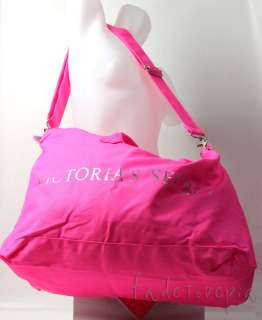 VICTORIAS SECRET PINK CANVAS TRAVEL DUFFLE BAG TOTE BEACH SCHOOL GYM
