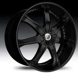 LX 7 Wheel SET 26x10 Black LEXANI LX7 Wheels For 5 & 6 LUG RWD 26inch