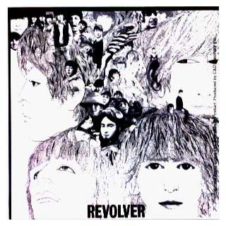 The Beatles   Revolver Album Cover   Square Sticker / Decal (Black