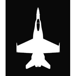 F 18C Hornet Jet Die Cut Decal Vinyl Sticker   6 White