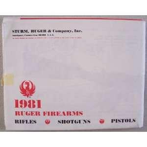 1981 Ruger Firearms [ Sturm, Ruger & Company, Inc. ] Rifles, Shotguns