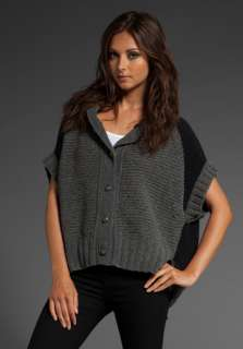 NWT* $278 JUICY COUTURE Colorblock Chenile Poncho Sweater in Steel