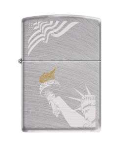 Statue of Liberty American Flag Patriotic Zippo Lighter