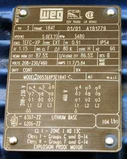 New WEG 5 HP Penguin M3 Magnetic Drive Chemical Pump
