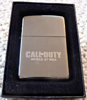 Call of Duty World at War Zippo Lighter   Official Swag *Brand New