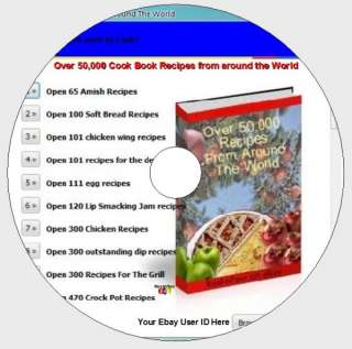 50,000 Cook Book Recipes around the world on CD ROM