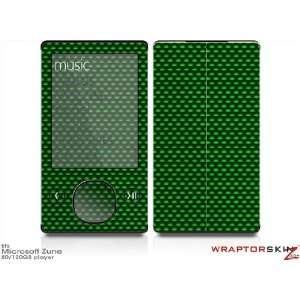 Zune 80/120GB Skin Kit   Carbon Fiber Green plus Free Screen Protector