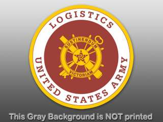 Army Logistics Round Seal Sticker  decal logo miloitary