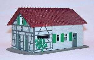 Pola HO 187 WOODWORK BUNGALOW HOUSE Ready Build Kit`70