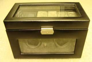 High End Leather 2 Watch Winder + 6 Watches