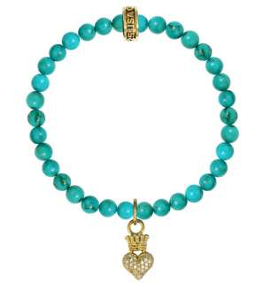 King QUEEN Baby Studio Turquoise bead bracelet 18K