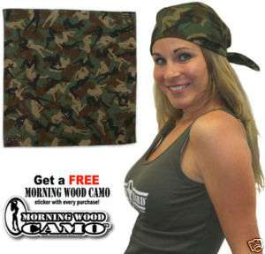 Green Morning Wood Camo Bandana Sexy Female Silhouettes