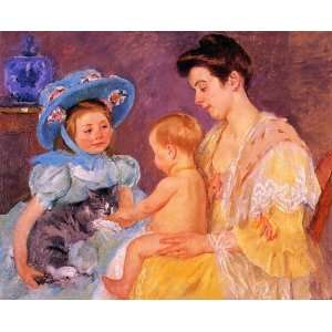FRAMED oil paintings   Mary Stevenson Cassatt   24 x 20
