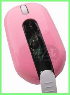 Pink 2.4G USB Wireless PC Laptop Optical Mouse Mice C