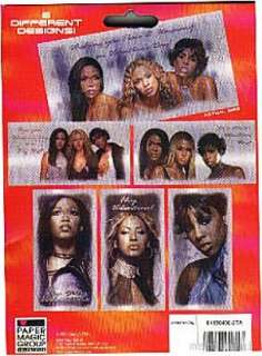 30 FOIL VALENTINE Cards DESTINYS CHILD FOLD SEALS 2001 BEYONCE Music