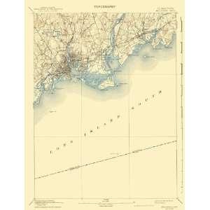 USGS TOPO MAP BRIDGEPORT QUAD CONNECTICUT (CT) 1893