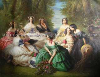Portrait Oil Painting Canvas Franz Winterhalter Empress Eugenie