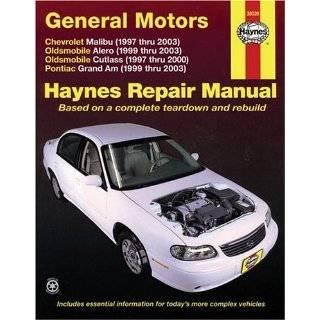 General Motors Chevrolet Malibu (1997 thru 2003) Oldsmobile Alero