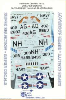 48 SuperScale Decals Skyhawk A 4B VA 86 A 4C VA 113 |