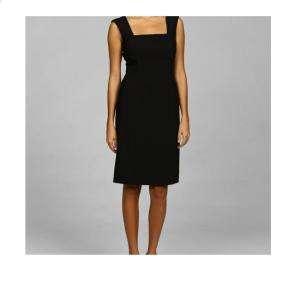 Tahari ASL Womens Black Pintucked Dress 8