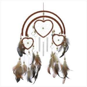 Mini Heart Shaped Feathered DREAMCATCHERS & WIND CHIMES