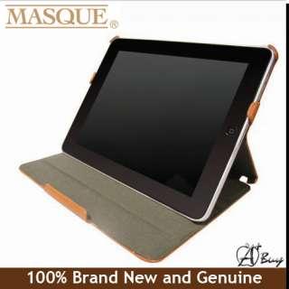 MASQUE Folio Folder Leather iPad 2 Case#Carbon Black