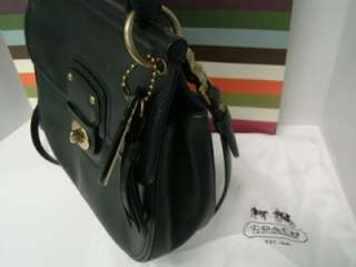 2011 COACH 19132 WILLIS BAG 70TH ANNIVERSARY BLACK VACHETTA LEATHER