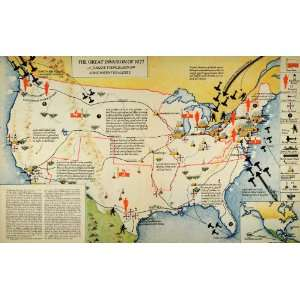 1935 Print Map Invasion Appleton War Battle Air Field Mock