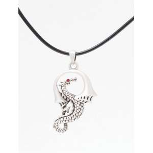Red Eye Dragon   Led free Pewter Jewelry Necklace