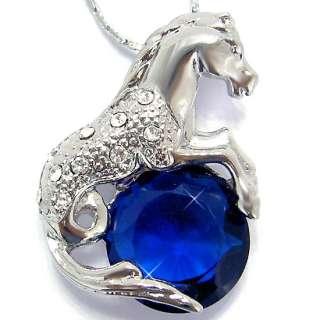 Stunning Horse Cut Blue Sapphire Necklace/Pendant P5910
