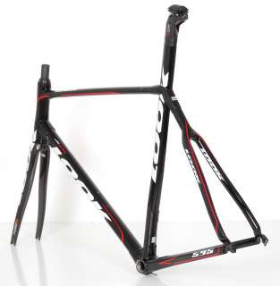 LOOK 595 FULL CARBON ROAD BIKE FRAME FORK SET RACE BICYCLE 59 cm XX