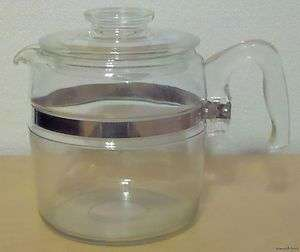 VINTAGE PYREX FLAMEWARE 6 CUP COFFEE POT & LID 7756 B