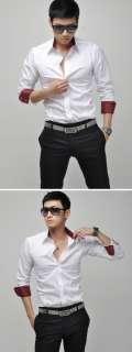 Mens Casual Slim Fit Stylish Dress Shirts 4Colours 6040