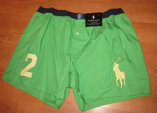 New POLO Ralph Lauren Big Pony #2 Boxer Shorts Mens Large Boxers