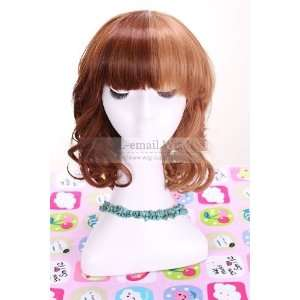 35cm Lolita Medium Curly Multi color Dark Brown&light Brown