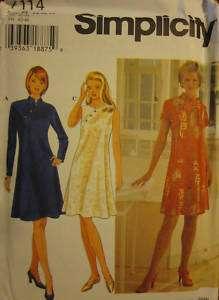 UNCUT Simplicity Pattern Misses Dress 7114 SEWING OOP