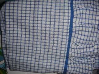RALPH LAUREN COTTAGE HILL BLUE WHITE PLAID QUEEN COMFORTER 11PC SET