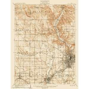 USGS TOPO MAP AKRON QUAD OHIO (OH) USGS 1905