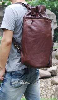 Vintage Genuine Leather Hiking Camping Travel bag Backpack LUGGAGE New
