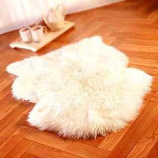 SHEEPSKIN RUG sheep skin Fur Pelt WHITE HAIR GENUINE me