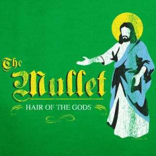 MULLET JESUS T Shirt wig homeboy funny white trash GRN